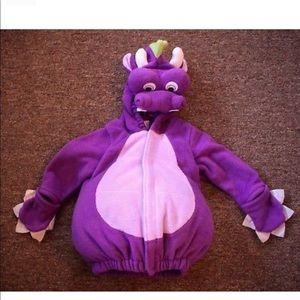 Purple dinosaur costume